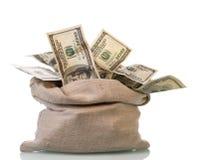 Dolarowi pieniędzy rachunki Zdjęcie Stock