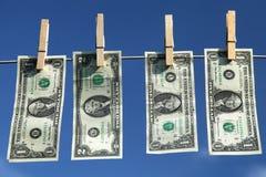 Dolarowi rachunki Zdjęcia Royalty Free