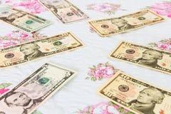 Dolarowi rachunki Obrazy Royalty Free