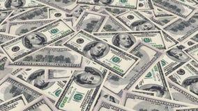 Dolarowi rachunki na stole zbiory wideo