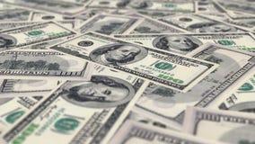 Dolarowi rachunki na stole zdjęcie wideo