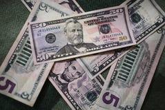 Dolarowi rachunki, pieniądze tło Dolary pieniądze setu zakończenia up Zdjęcie Stock