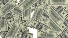 Dolarowi rachunki wtyka parawanowe animacje w pełnym HD
