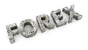 Dolarowi rynki walutowi Obrazy Royalty Free