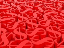 Dolarowi symbole Obrazy Royalty Free