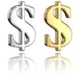 dolarowi znaki Zdjęcie Royalty Free