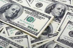 Dolarowy banknotu pieniądze tło Zdjęcie Royalty Free