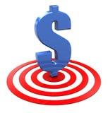 dolarowy cel Zdjęcie Stock
