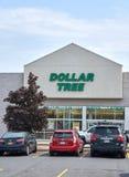 Dolarowy Drzewny sklep i znak Obrazy Stock