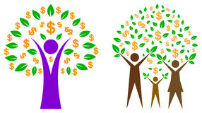 Dolarowy drzewo ilustracji