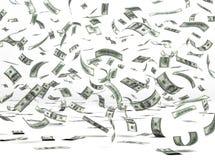 dolarowy latający pieniądze Zdjęcia Stock