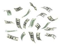 dolarowy latający pieniądze Zdjęcie Stock