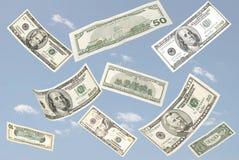 dolarowy latanie Zdjęcia Stock