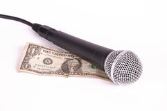 dolarowy mikrofon Zdjęcie Royalty Free