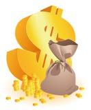 dolarowy moneybag ilustracji