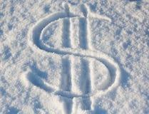 Dolarowy śnieg obrazy royalty free