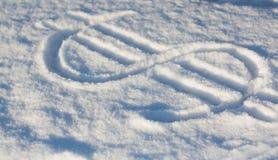 Dolarowy śnieg zdjęcie royalty free