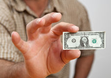 dolarowy nieprawdopodobny target450_0_ Obrazy Stock