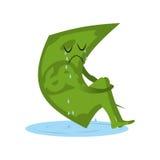 Dolarowy płacz Pieniądze w kałuży łzy Tęsknić i szlochu kapitał ilustracji