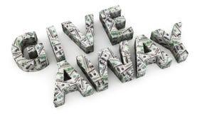 Dolarowy prezent ilustracja wektor