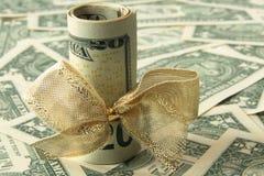 dolarowy prezent obraz royalty free