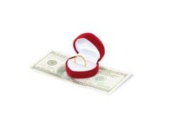dolarowy serce Zdjęcie Royalty Free