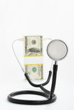 dolarowy stetoskop Obrazy Stock
