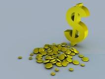 Dolarowy symbol ilustracji