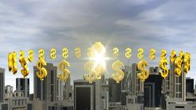 Dolarowy symbol dominuje miasto zbiory