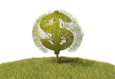 Dolarowy symbol na drzewie royalty ilustracja
