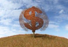 Dolarowy symbol na drzewie ilustracji