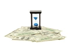 dolarowy szklany piasek Obraz Royalty Free