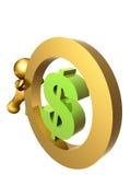 dolarowy waluty kołysanie się my Fotografia Stock