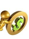 dolarowy waluty kołysanie się my Zdjęcia Royalty Free