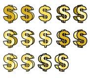 Dolarowy złoto śpiewa Zdjęcie Royalty Free
