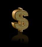 Dolarowy znak royalty ilustracja
