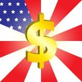 Dolarowy znak Zdjęcie Royalty Free