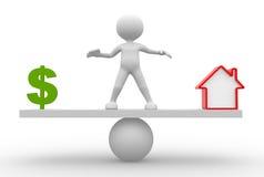 Dolarowy znak lub dom Obraz Stock