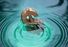Dolarowy znak na wodzie Obrazy Royalty Free