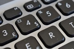 Dolarowy znak, symbole, listy i liczby inni, fotografia stock