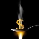 Dolarowy znak tła jaskrawy ilustracyjny pomarańcze zapas Zdjęcie Stock