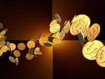 dolarowy złoty strumień Obraz Royalty Free