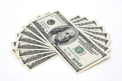 dolarowych 100 rachunków Zdjęcia Stock