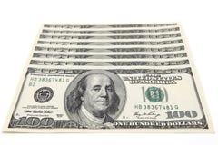 dolarowych 100 rachunków Fotografia Royalty Free