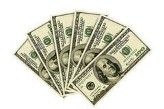 dolarowych 100 rachunków Obraz Stock