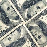 $100 dolarowych rachunków Obrazy Stock