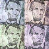 Dolarowych rachunków Abstracted wzór Zdjęcie Royalty Free