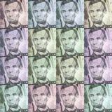 Dolarowych rachunków Abstracted wzór Zdjęcia Stock