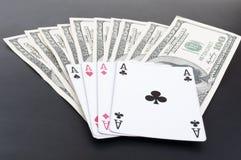 dolars карточки туза Стоковые Изображения