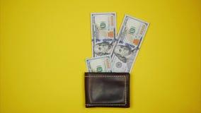 Dolary dostaje z portfla Zatrzymuje ruch animację ilustracji